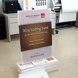 Wine Tasting Event Sign
